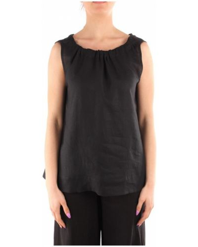 Czarna koszulka bez rękawów Marella