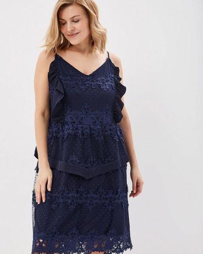 Коктейльное платье синее Lost Ink Plus