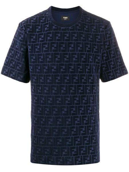 Koszula krótkie z krótkim rękawem aksamit prosto Fendi