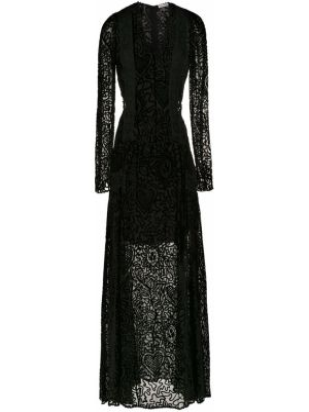 Шелковое платье макси - черное Martha Medeiros