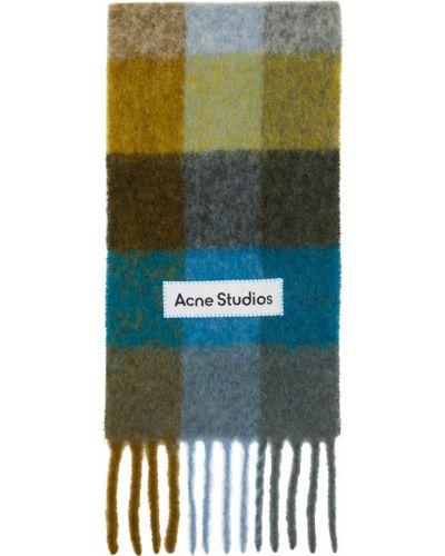 Czarny szalik wełniany z haftem Acne Studios