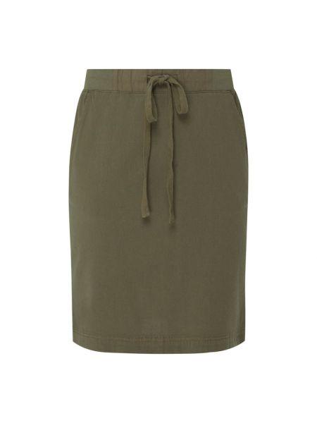 Zielona spódnica rozkloszowana bawełniana Kaffe