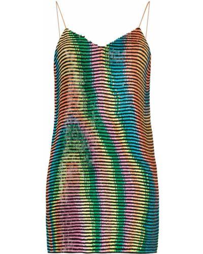 Платье мини с V-образным вырезом - черное Ashish