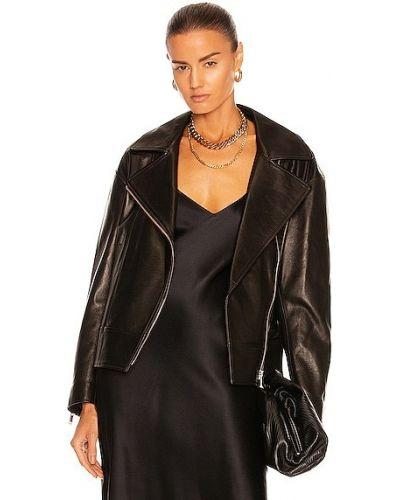 Черная турецкая кожаная куртка Nour Hammour