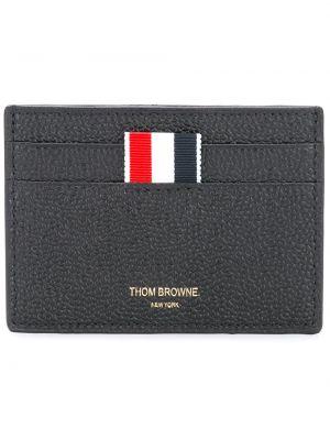 Кожаный кошелек классический золотой Thom Browne