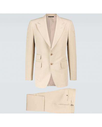 Bawełna bawełna kostium garnitur z klapami Tom Ford