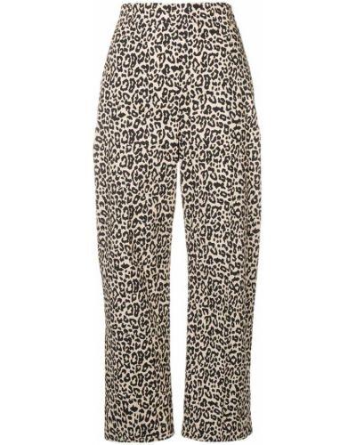 Свободные брюки с леопардовым принтом укороченные Liu Jo