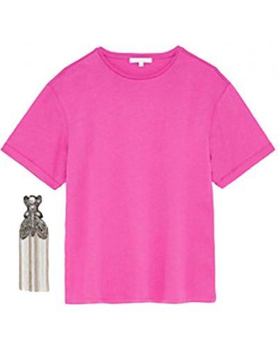 Bawełna bawełna z rękawami t-shirt Patrizia Pepe