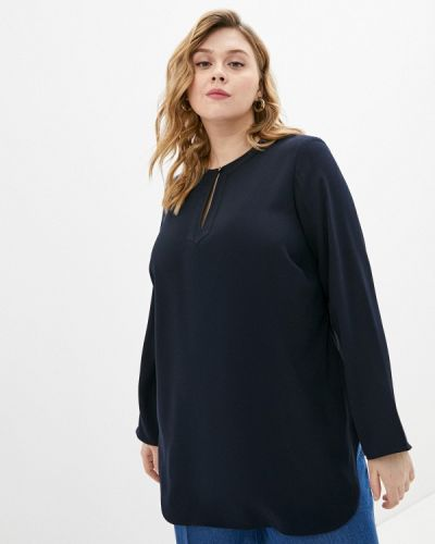 Синяя блузка с длинными рукавами Lauren Ralph Lauren Woman