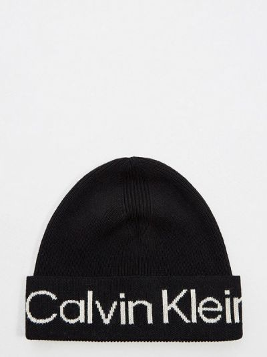 Шапка - черная Calvin Klein