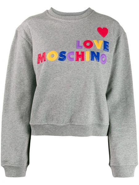 Топ свободный с вышивкой Love Moschino