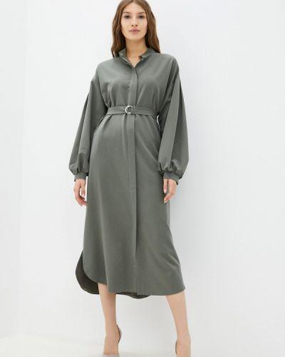 Платье рубашка - зеленое Mankato