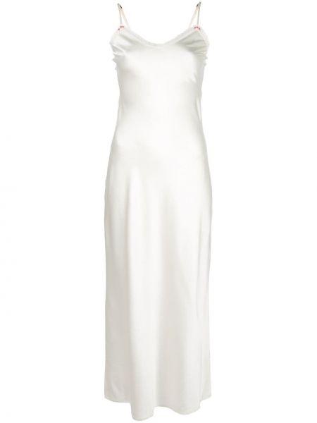 Шелковое платье - белое Morgan Lane