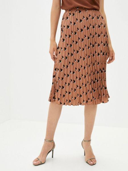 Плиссированная коричневая плиссированная юбка Shelter