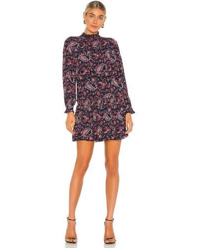 Платье макси с длинными рукавами - фиолетовое Rebecca Taylor