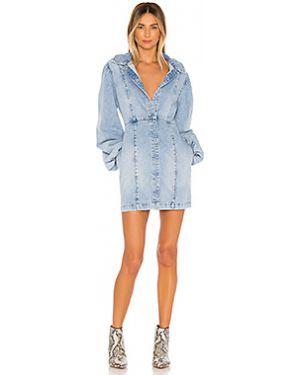 Платье мини джинсовое с карманами Free People
