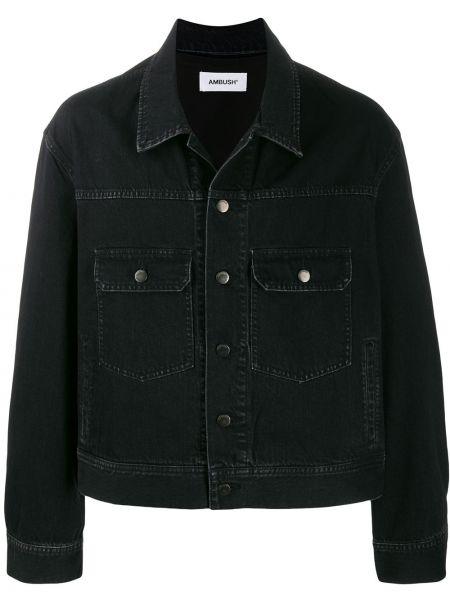 Czarne jeansy bawełniane z długimi rękawami Ambush