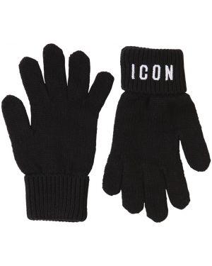 Rękawiczki z jednym palcem wełniany z mankietami Dsquared2