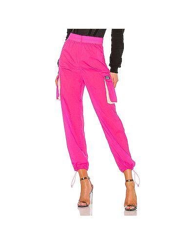 Спортивные брюки на резинке розовый Stussy