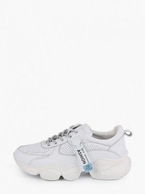 Кожаные белые низкие кроссовки Berten