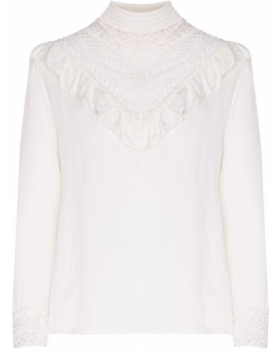 Блузка кружевная с рюшами Sandro
