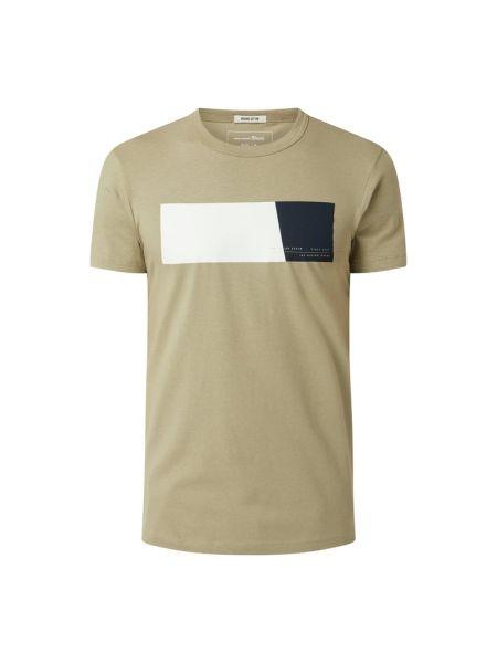 T-shirt z printem - biała Tom Tailor Denim