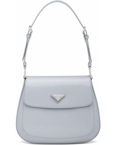 Голубая сумка на плечо Prada