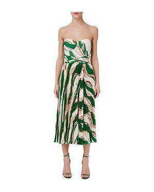 Зеленое асимметричное коктейльное платье Elisabetta Franchi