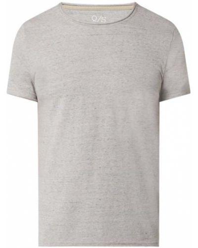 T-shirt bawełniana - brązowa Q/s Designed By