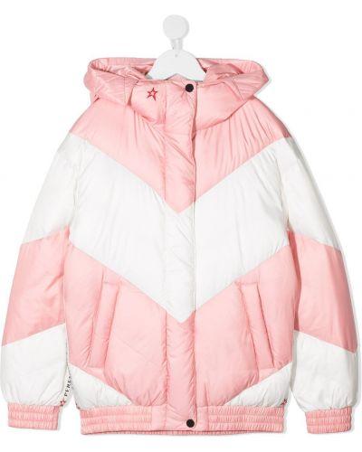 Klasyczna różowa długa kurtka z kapturem Perfect Moment Kids