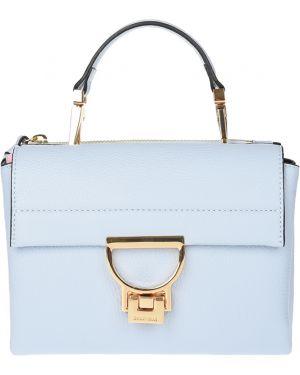 Кожаная сумка - голубая Coccinelle
