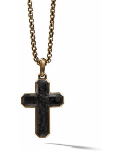 Мягкий текстильный крест золотой David Yurman