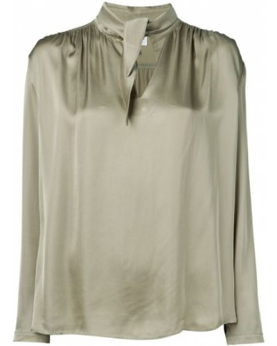 Блузка с вырезом - зеленая Jovonna