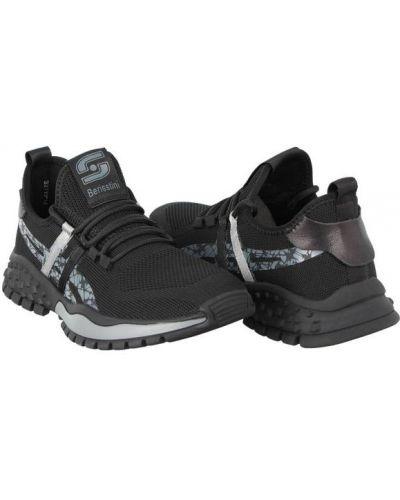 Текстильные кроссовки - черные Berisstini