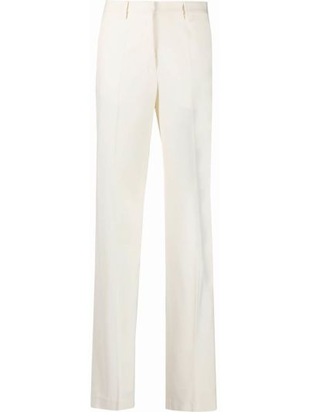 Spodni biały spodnie z wiskozy z kieszeniami Off-white