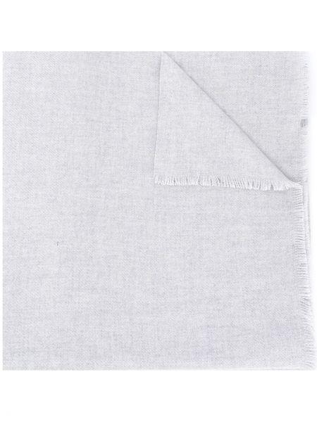 Свободные серый кашемировый шарф свободного кроя Agnona