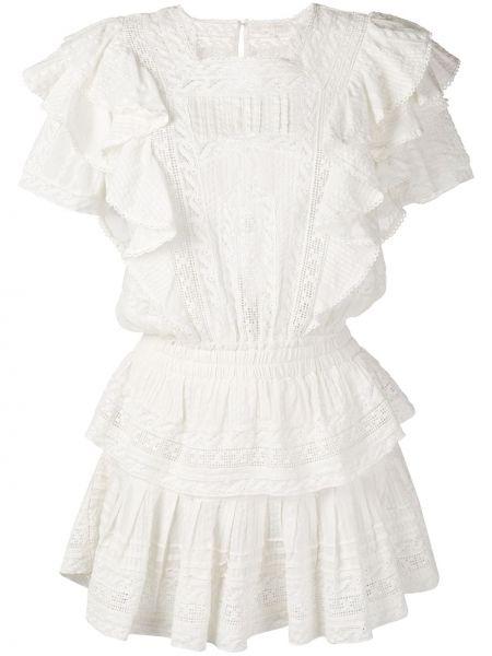 Платье мини с вырезом - белое Loveshackfancy