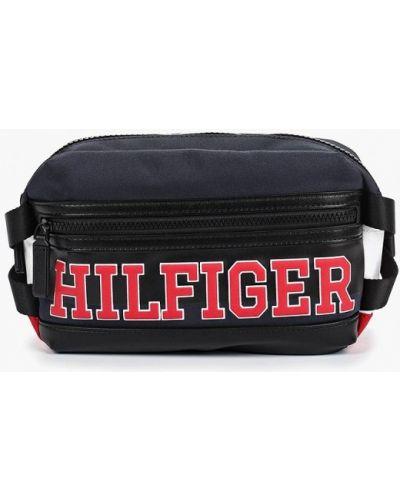 Поясная сумка текстильная синий Tommy Hilfiger