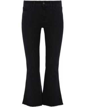 Черные свободные укороченные джинсы на пуговицах с поясом Gender Denim
