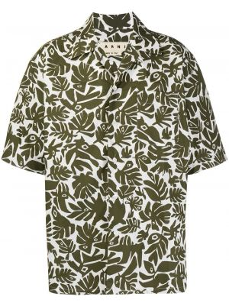 Koszula krótkie z krótkim rękawem klasyczna z kieszeniami Marni