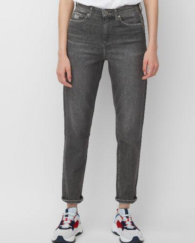 Серые брюки с вышивкой с поясом свободного кроя Marc O' Polo