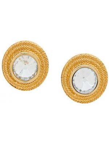 Золотые серьги круглые Givenchy Pre-owned