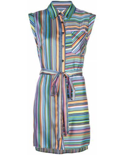 Платье с поясом в полоску на пуговицах Milly