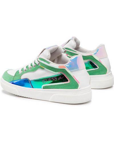 Zielone sneakersy Guess