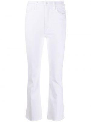 С завышенной талией белые джинсы на молнии Mother