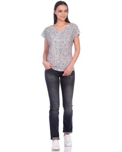 Прямые серые джинсы с низкой посадкой Mavi