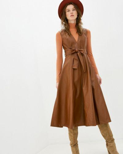 Коричневое кожаное платье You&you