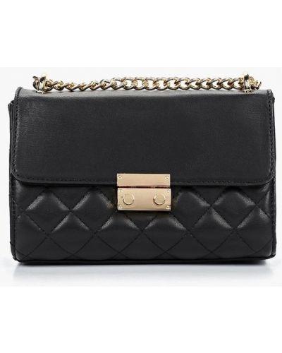 Кожаный сумка через плечо черный Fabretti