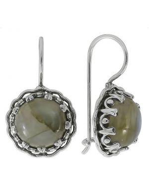 Серебряные серьги серебряный французский Den'o
