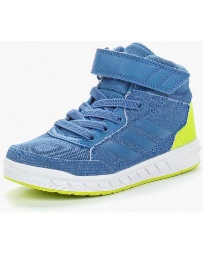 Синие кеды резиновые Adidas
